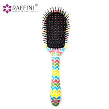 Private Label Beautiful Plastic Detangling Printing Cushion Hair Brush