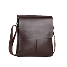 Fashion Men PU Messenger Business Waterproof Leather Sling Crossbody Bag