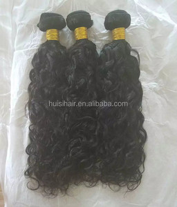 Large stock standard weight neat wefts 100% human free weave Indian hair natural color