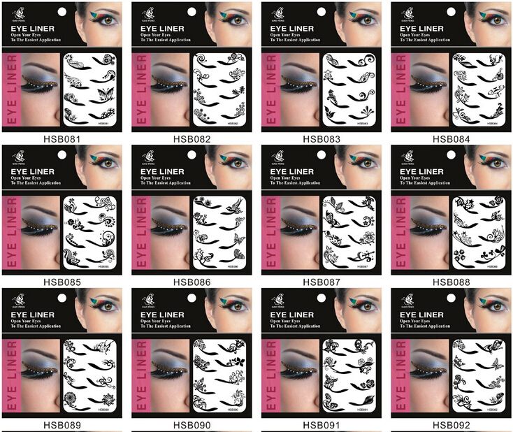 Fashion Eyeliner Sticker Double Eyelid Transfer Tape Eyeshadow Smoky Tattoo