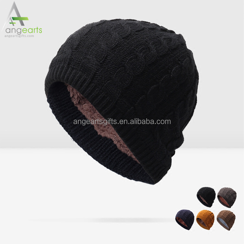 Keep warm and velvet set head cap wool knitting hat hip hop cap and beanie hat