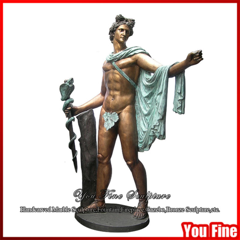 Bronze Apollo Nude Famous Metal Sculptures