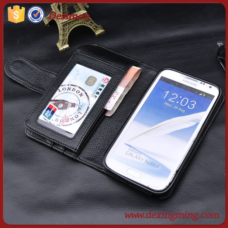 funny flip Leather Wallet smart Cover Case for Samsung Note 2