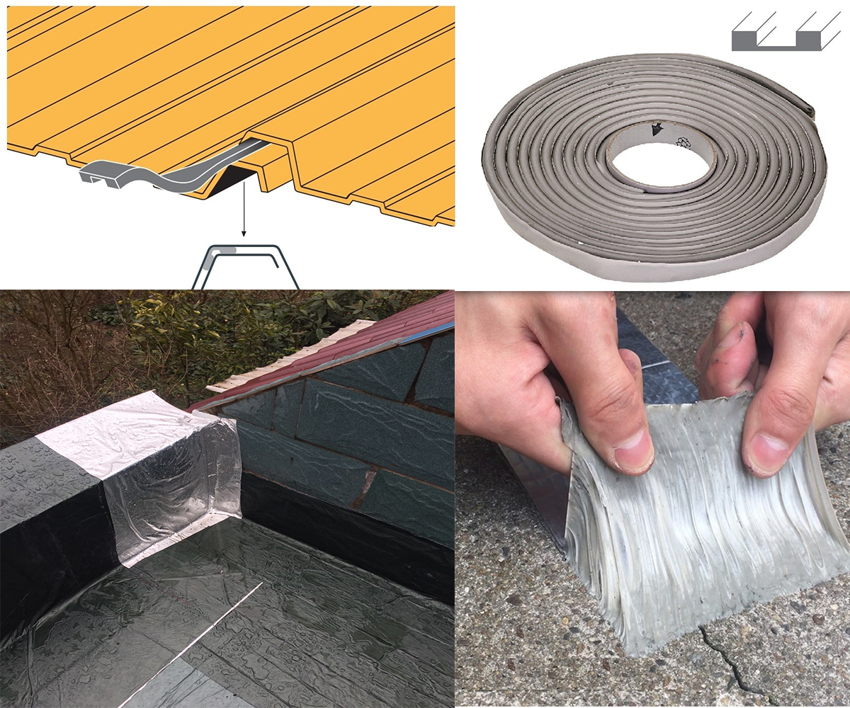 Aluminum foil 1.2mm self adhesive butyl flashing tape