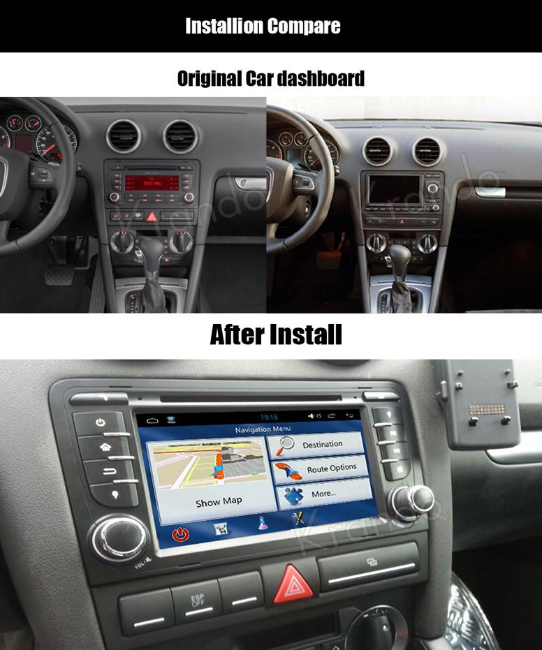 krando android audi a3 2003-2011 car radio gps dvd player navigation multimedia system