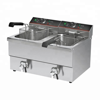 8L+8L Double-tank Electric Pressure Deep Fryer Induction Turkey Fryer for Sale