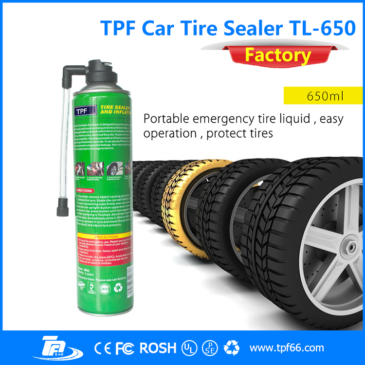 tpf 650ml Tyre sealants Emergency Puncture Repair tyre sealer and inflator