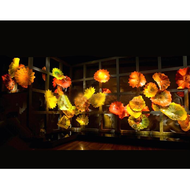 Handmade Blown Murano Glass Decorative Wall Art Plates