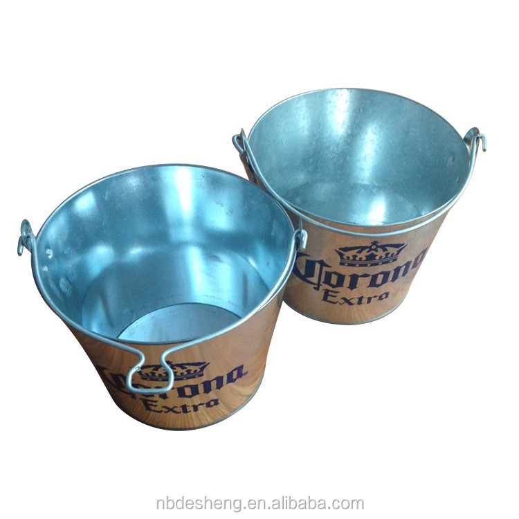 Vendita caldo eco-friendly impermeabile bear tin zincato a caldo tuffato metallo ice bucket