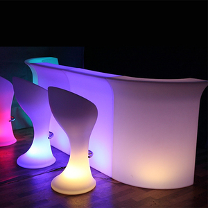 Party illuminated furniture led plastic bar counter outdoor pub modern bar counter led
