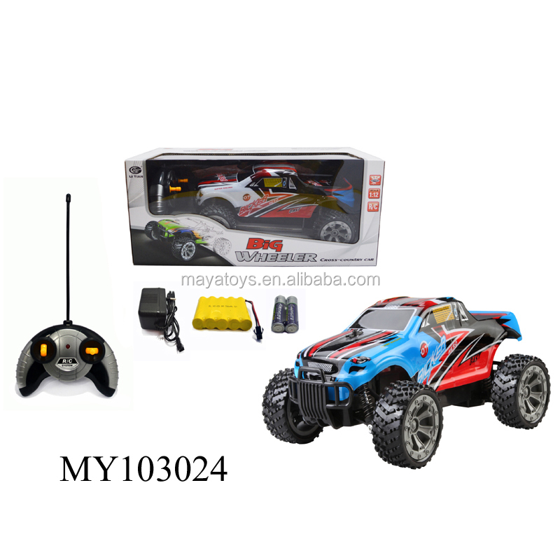 1: 12 4channel remote control racing car toy powerful rc car rc hobby high speed car 2colors options