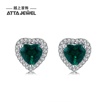 Emerald Earring Design Stud Sterling Earrings New Model Fashion Designs
