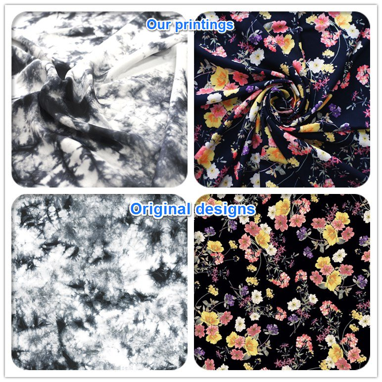 Chinese custom digital print silk jersey knit fabric