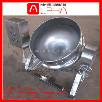 500 Liter Industrial Steam Cooking Jacketed Kettle Price Jacket