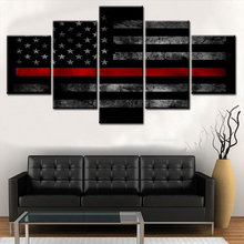 5 Pieces Brand Designed American Flag Logo Modern Home Wall Decor Canvas Picture Art HD Print Painting On Canvas For Living Room