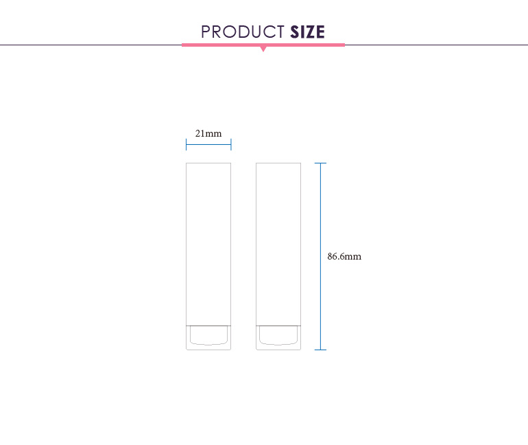 Private label clear cap square luxury custom lipstick tube packaging design for sale