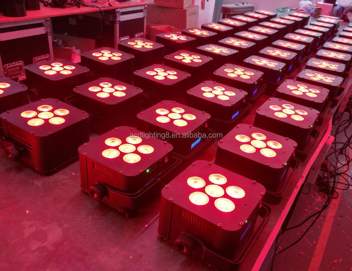 Rgbwa УФ 6*18 Вт 6in1 батарея мощность беспроводной dmx дистанционное управление led par плоский свет этапа