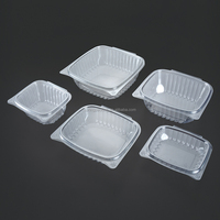 24oz lid and base connected clamshell packaging blister plastic disposable packing salad fruit cake box
