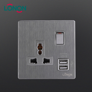 Economical universal wall socket usb charger multiple plug switched socket