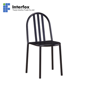 Powder coating stackable metal restaurant chairs, dining chairs