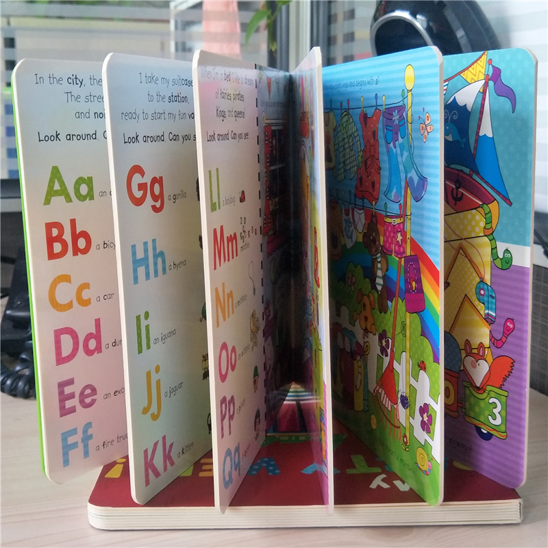 Cheap Small children kids cardboard learning book printing
