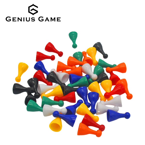 Colorful board game pawns pieces