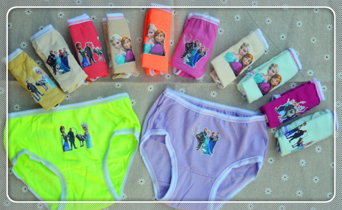 2016 Top Fashion 6pcs lot Girl Underwear Panties Briefs Hot Sale Children Pants Kids Wholesale High