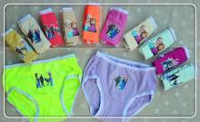 2016 Top Fashion 6pcs lot Girl Underwear Panties Briefs Hot Sale Children Pants Kids Wholesale High