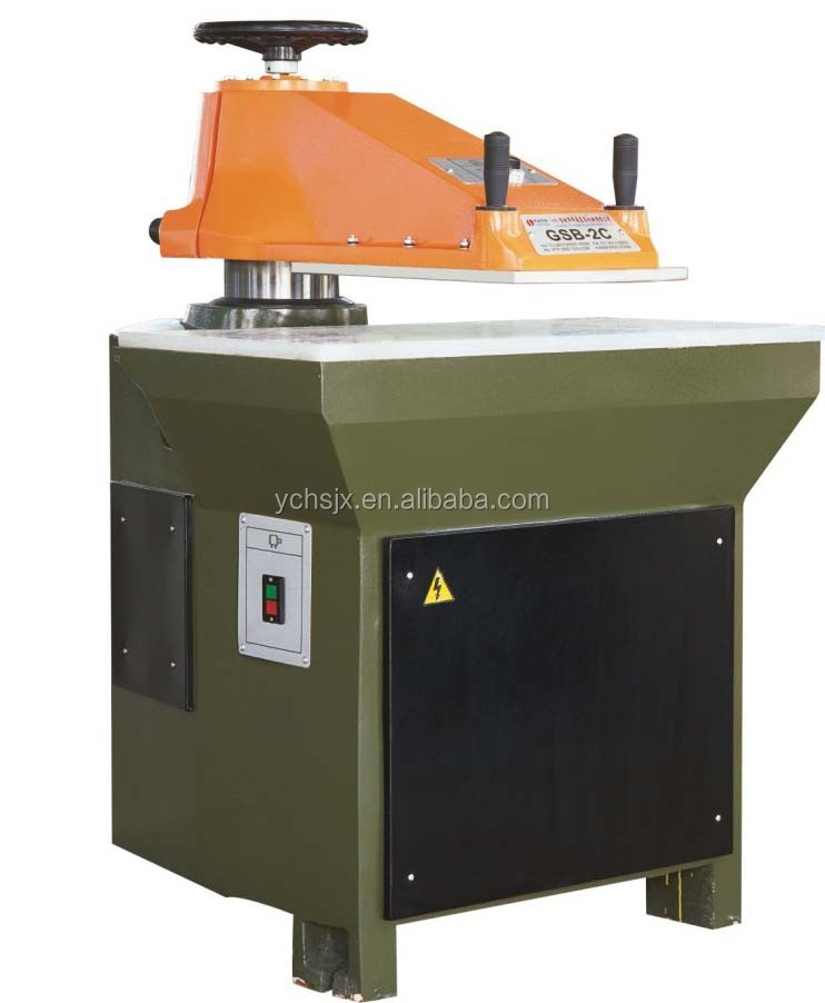 Leather pressing machine automatic hydraulic swing arm die cutting press for cutting leather
