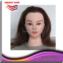 wholesale 100% real human hair barber training mannequin heads