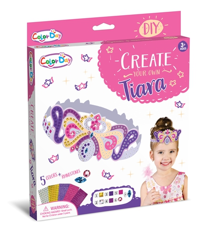 Girls Gift DIY Toys Mosaic Digital Pasting Tiara Crown