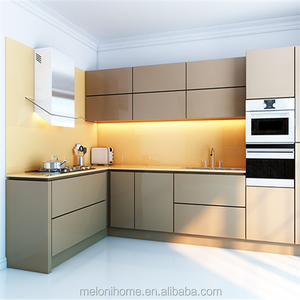 prefabricated kitchen unit,golden lacquer,singapore style modular kitchen cabinet