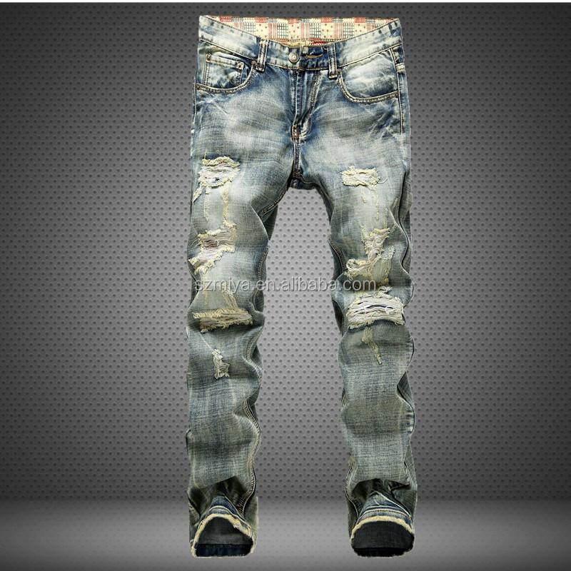 Pantalones Vaqueros De Diseno Moderno Para Hombre Rasgados A La Moda Al Por Mayor Buy Pantalones Vaqueros Para Hombre Pantalones Rasgados Para Hombre Ultimos Disenos De Vaqueros Para Hombre Product On Alibaba Com