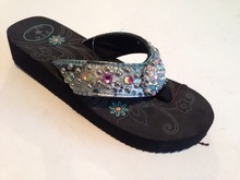 Wood platform high heel sandals