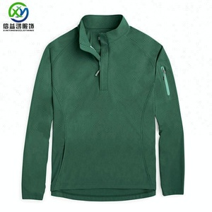 Back tail 1/4 zip quick dry Jersey Men Sweatshirt