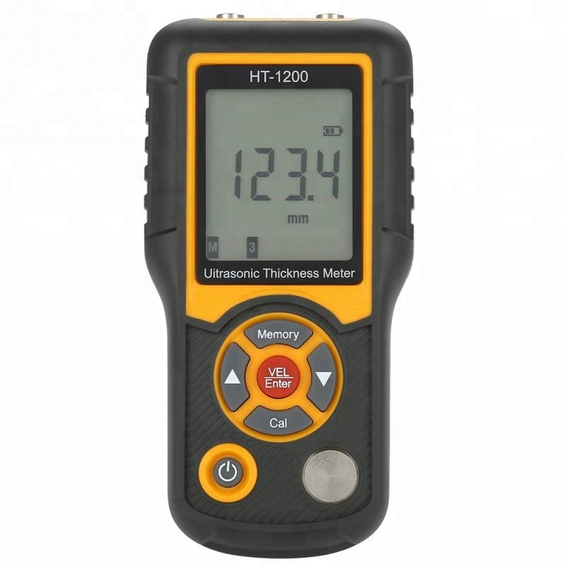 Digital LCD HT-1200 Ultrasonic <strong>Thickness</strong> Meter Tester Gauge Measuring Tools 1.2~225mm Range