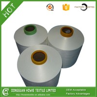 Polyester DTY yarn 75D 36f TBR Raw white Recycled yarn