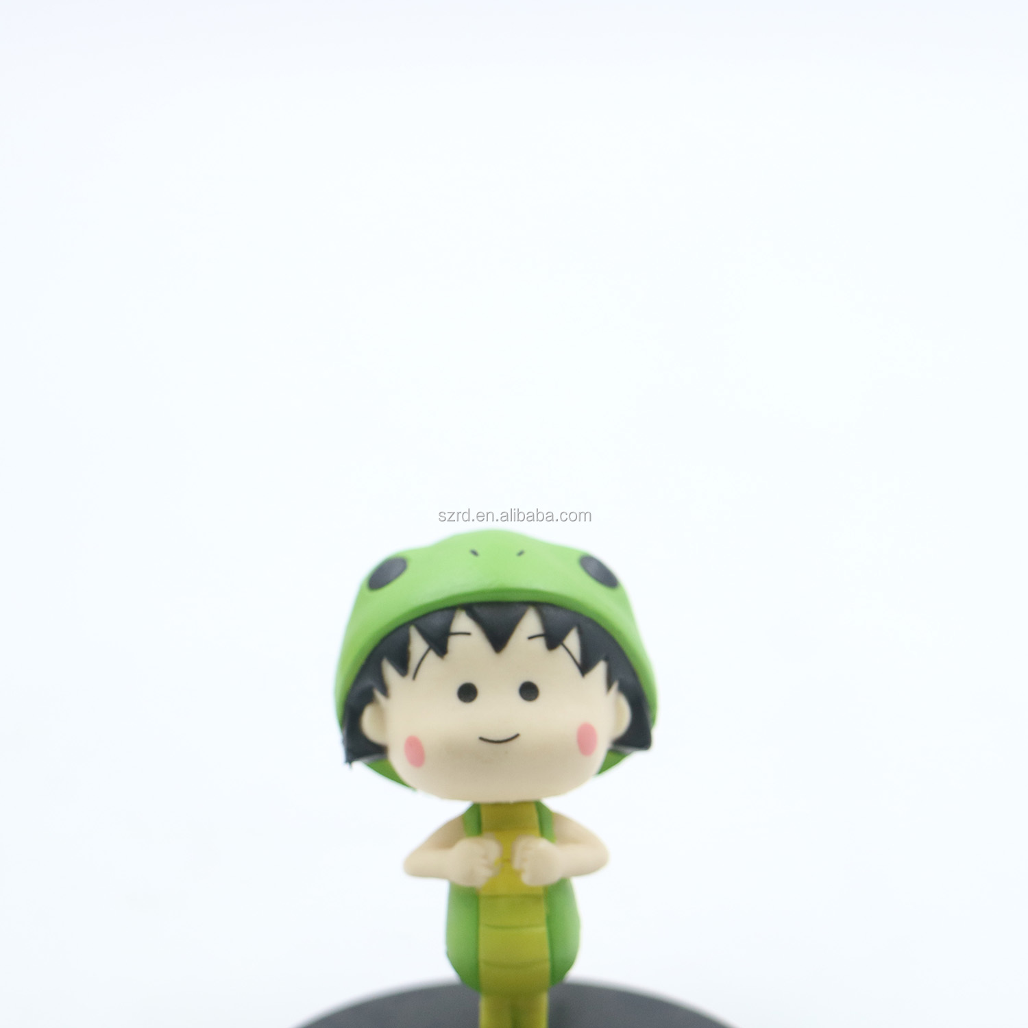 Customized pvc mini cartoon girl figure creative injection artwork product