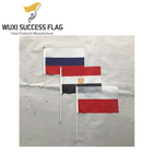 world cup hand flags of country Russia Egypt and Poland