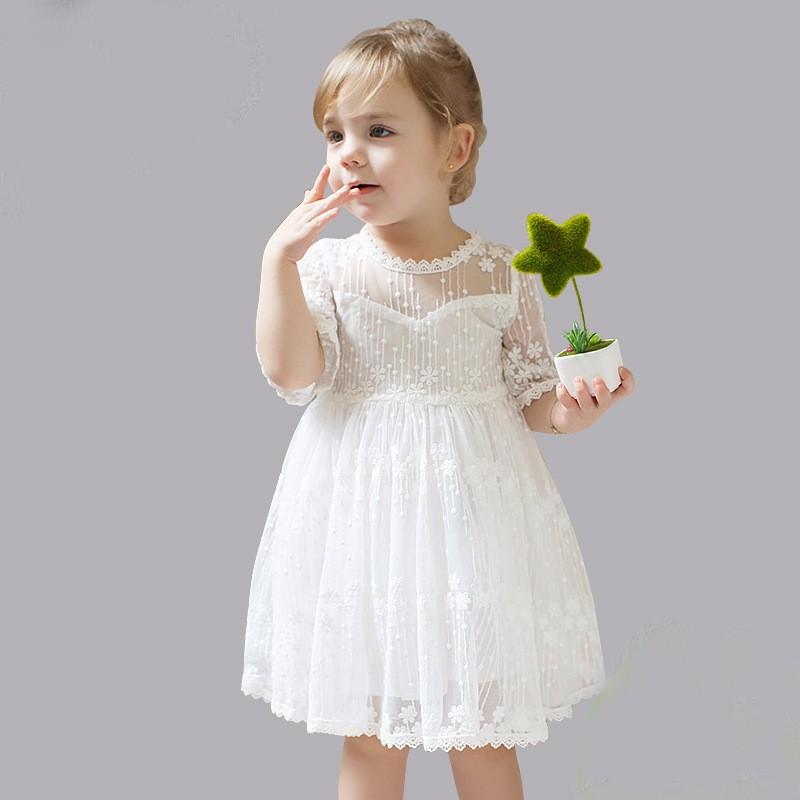 B4238 Blanco Niña De Las Flores Vestidos Para La Boda Vestidos De Encaje De Manga Corta De Fiesta De Cumpleaños De Niña De Vestido Tul Vestido Buy