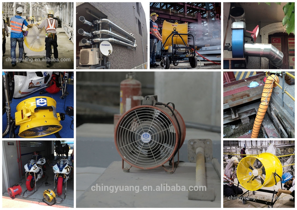 Construction Ventilation Fans : Jouning ventilation portable smoke sucking fan quot inline