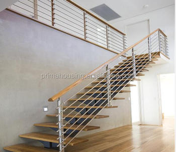Housing Prefabricated L Shaped Stairs Indoor Design For Your Project