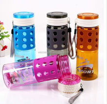new style plastic water bottle with straw wide mouth &sports water bottle&pc bottle&