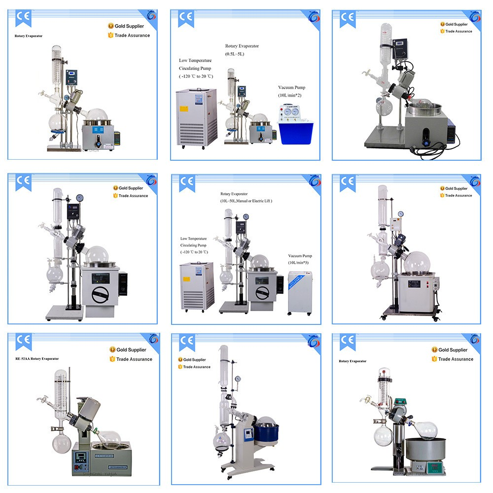 Single Effect 5L Rotary Evaporator Price With Water Bath