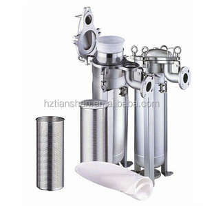 SS 304 SS316L bag filter housing/ Stainless steel bag filter/ metal filter equipment for beer filtration in brewery