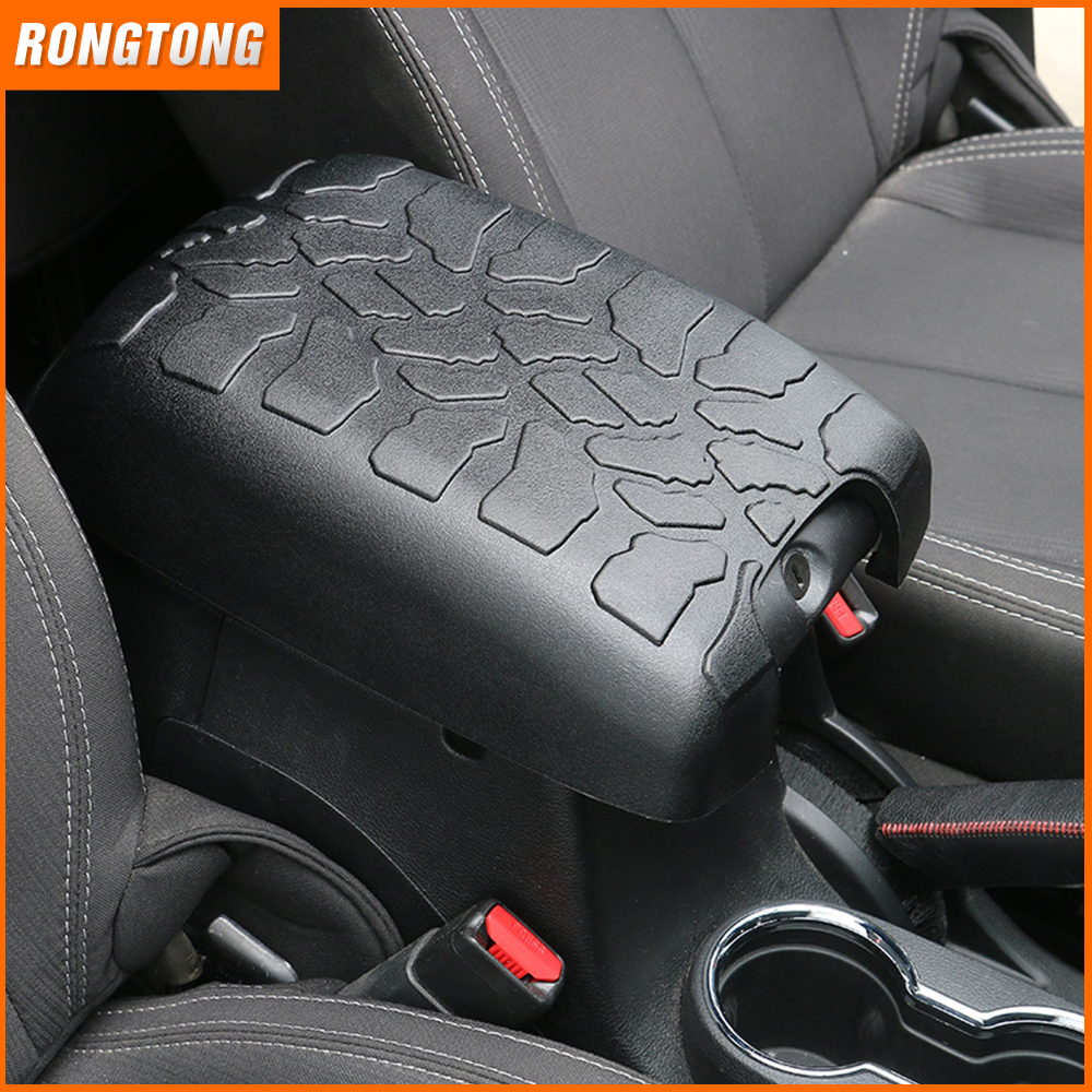 Car Rubber Central Console Armrest Storage Cover for Jeep Wrangler JK 07-17