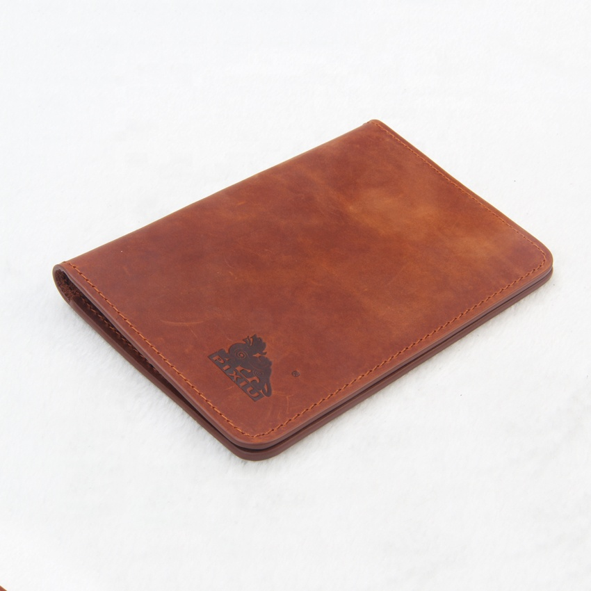 TIANHOO Leather Passport Holder Travel ID Card Cover Wallet for Men and Women Brown