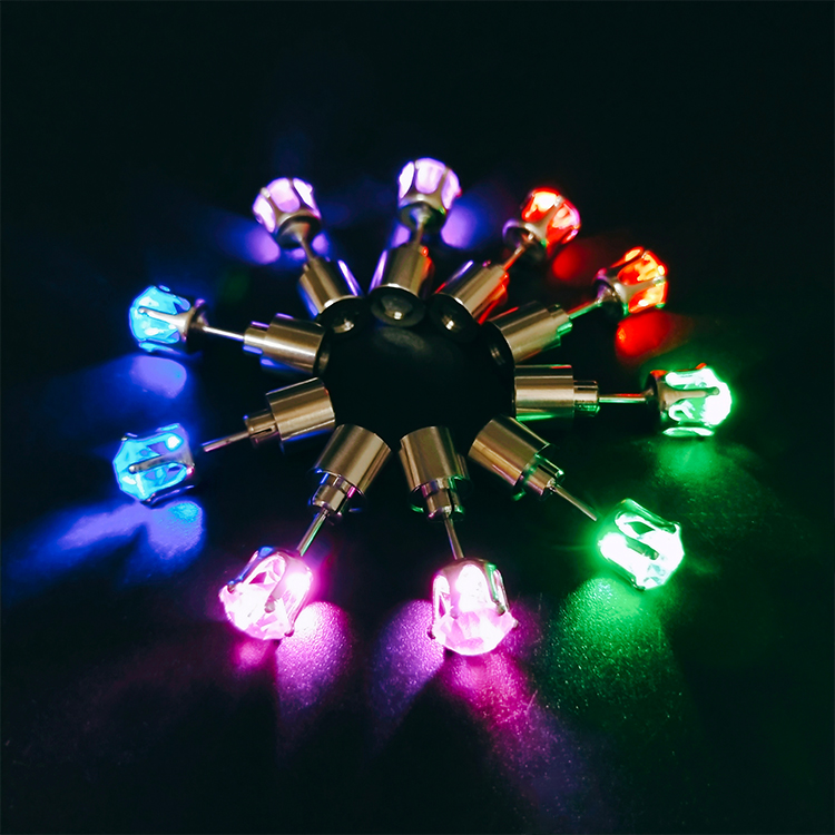 Wholesale light up led earrings cute cubic zirconia earrings for party
