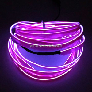 2017 Hot 3V Steady on Driver By 2.3mm-Skirt EL Wire 3Meters Cars Internal Party Decoration Neon Glow Strip Light