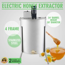 Honey Extractor Electric Honey Extractor Honeycomb Spinner 4 Frame Stainless Steel Electric Beekeeping Supply Beehive